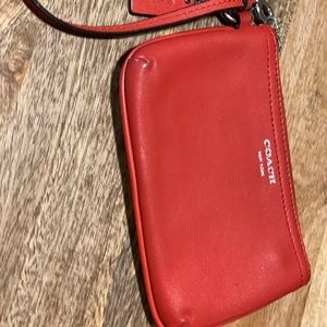 Coach Wristlet / Wallet Red